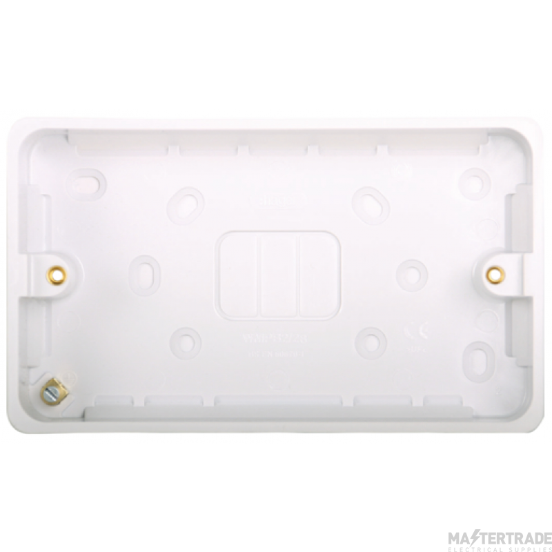 Hager WMPB2/28 Surface Box Twin 28mm