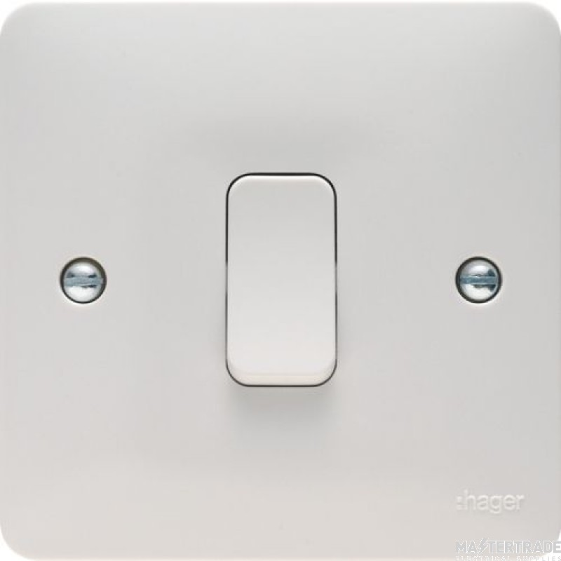 Hager WMPS12 Wall Switch 1G 2Way 10AX