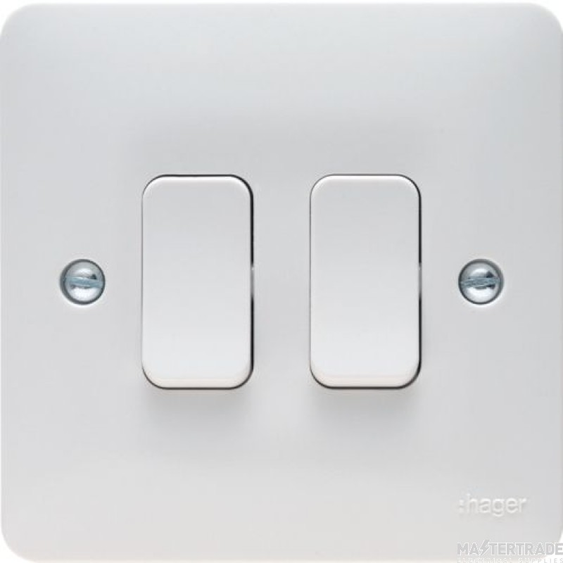 Hager WMPS22 Wall Switch 2G 2Way 10AX