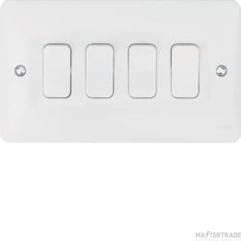 Hager WMPS42 Wall Switch 4G 2Way 10AX