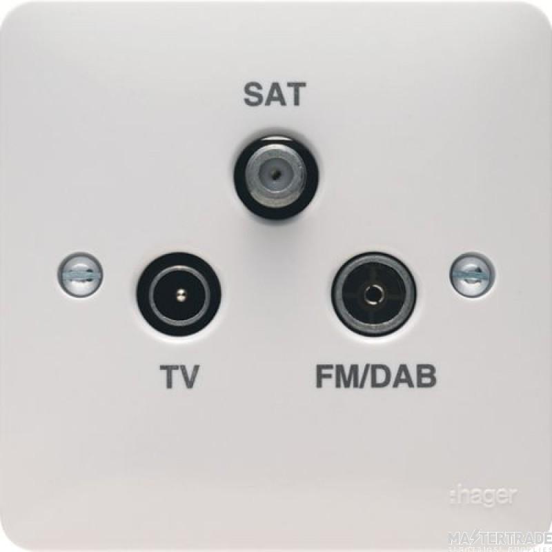 Hager WMTX Socket TV/FM Satel Trplxr