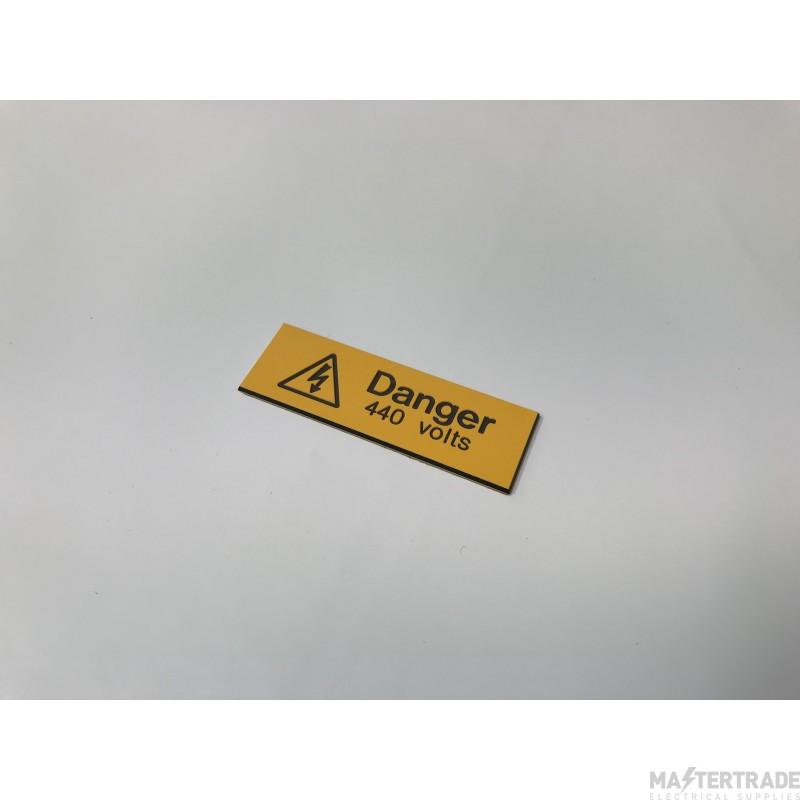 Ind Signs IS0205EN Danger 440V Label Pk5