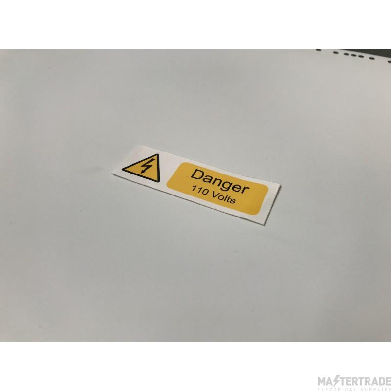 Ind Signs IS0510SA Danger 110V Lbl Pk10