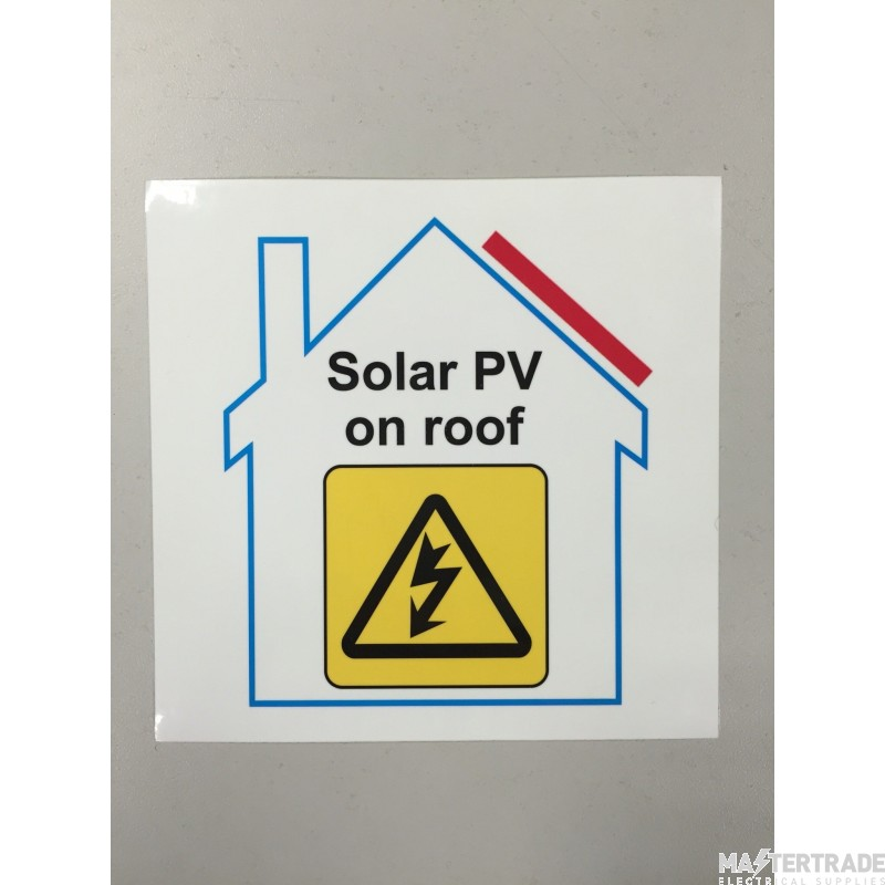 Ind Signs IS9210SA Solar On Roof Label