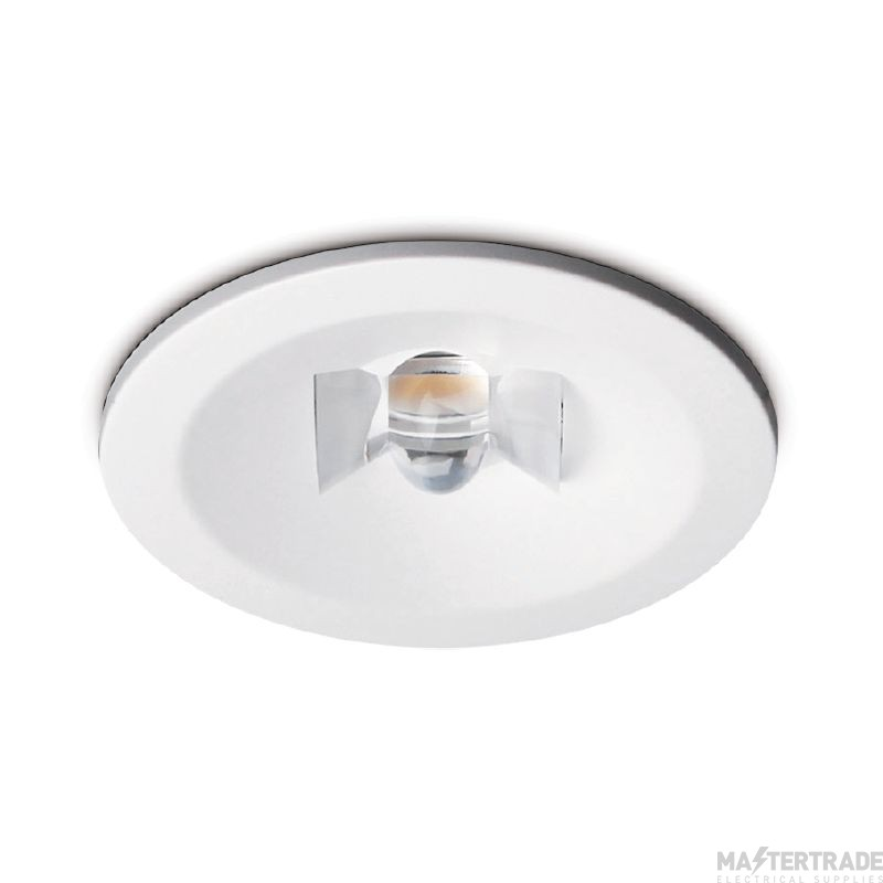 Kosnic EDWL03C20/COR-WHT Nitro LED Emergency Recessed Downlight 3hrNM Self Test Corridor White