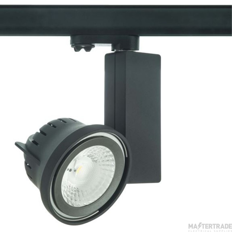 Escala 15W Ar111 Track Fitting Complete With 45° 4000K Non-Dimmable Lamp Black
