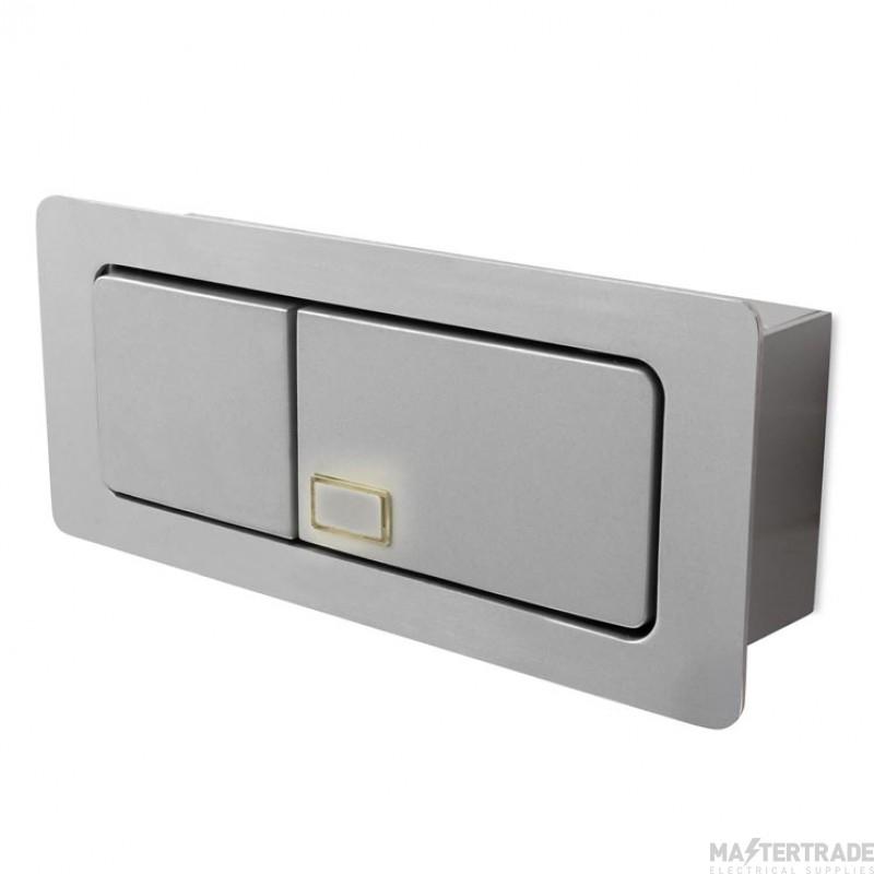 LEDS C4 Wall Recessed Estak 1 X Led 3W  Grey
