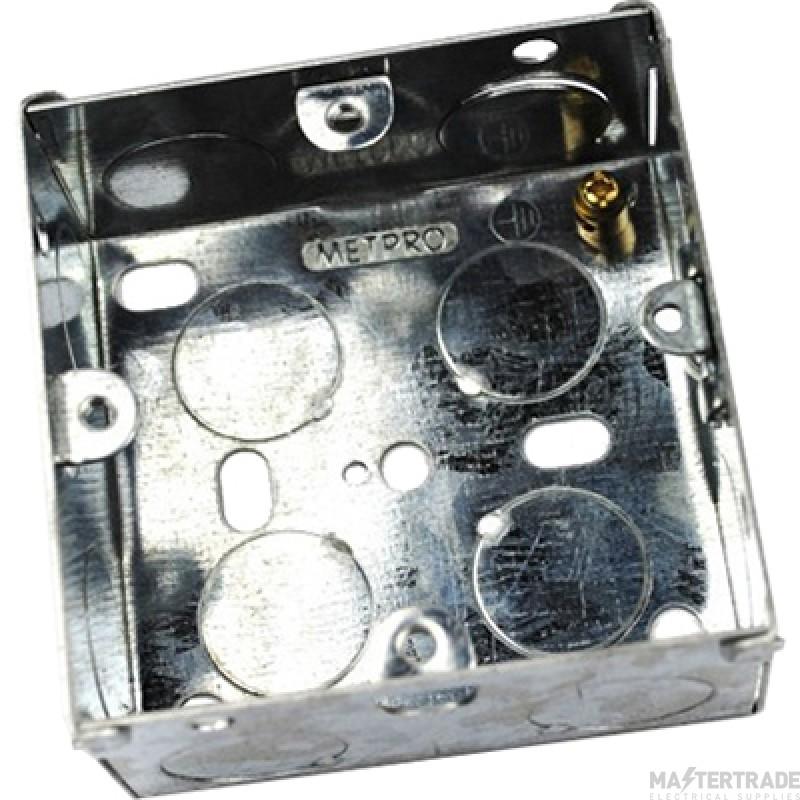 MetPro EWS2 25Mm 1 Gang Switch Socket Box