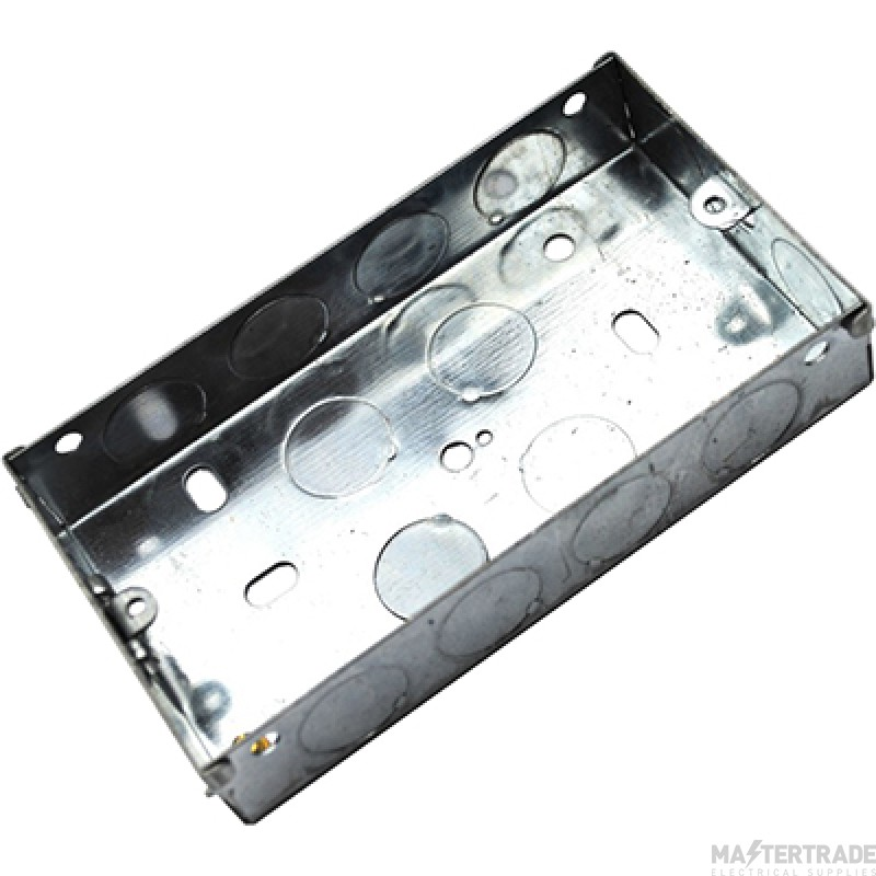 MetPro EWS3 25Mm 2 Gang Switch Socket Box