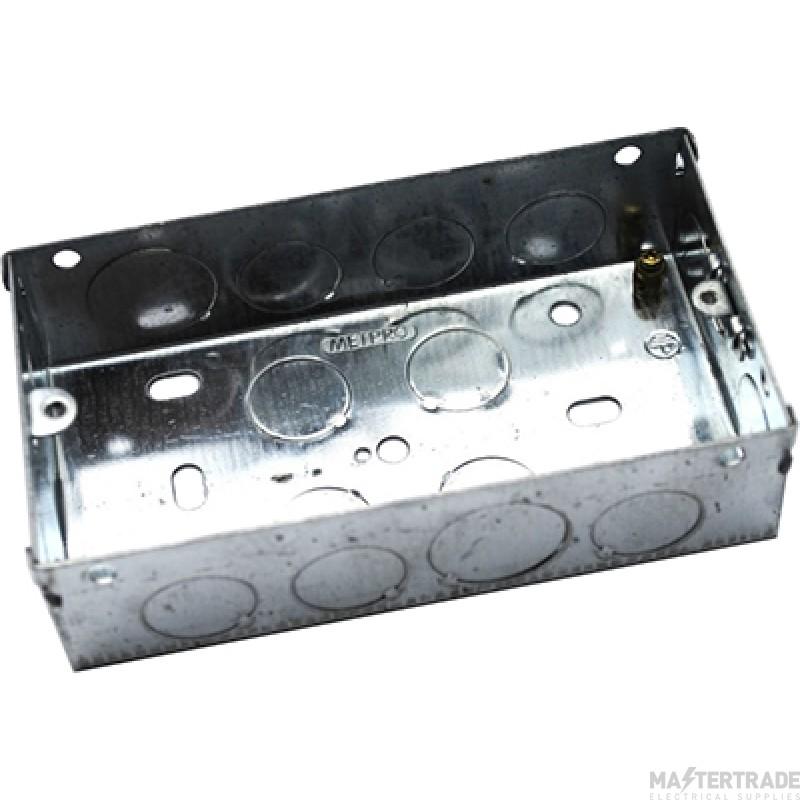 MetPro EWS5 35Mm 2 Gang Switch Socket Box