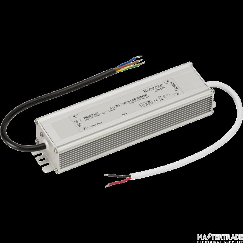 Knightsbridge 24DCIP100 24V IP67 100W DC LED Driver - Constant Voltage