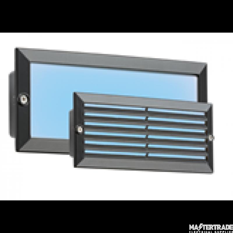 Knightsbridge 5W IP54 Blue LED Recessed Bricklight with Black Fascia BLED5BB