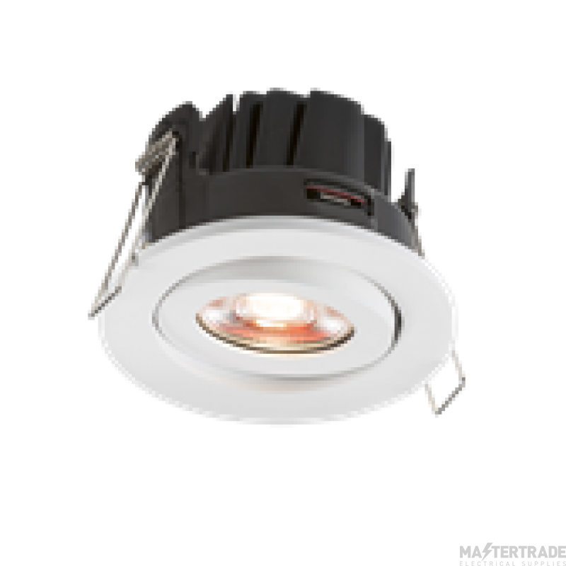 Knightsbridge VFRIC8TWW Valknight Tilt Fire Rated Downlight 3000K White