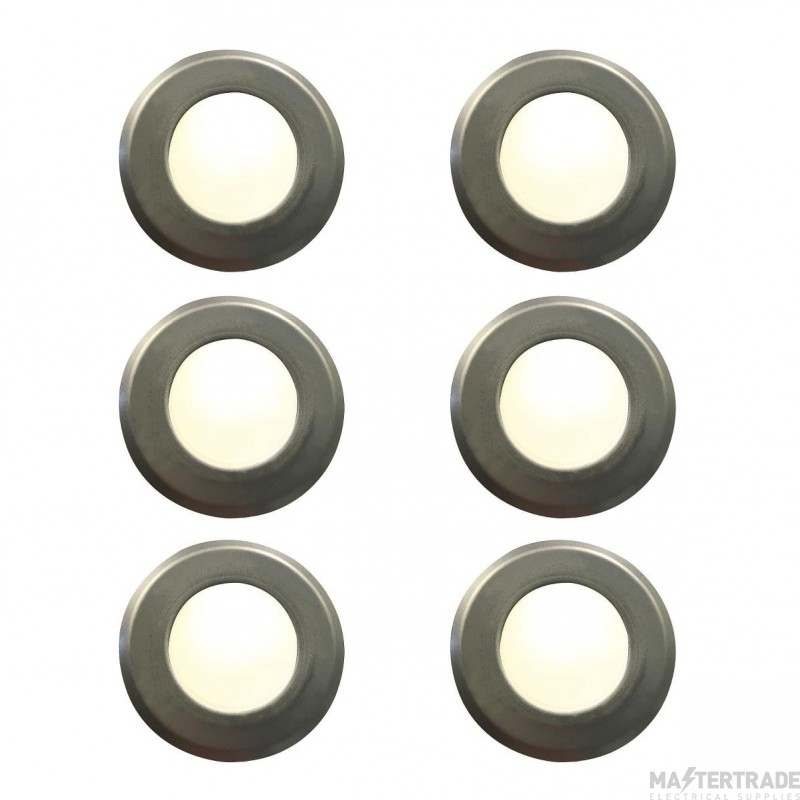 Nordlux 45420034 Une Stainless Steel Set of 6 Groundlights
