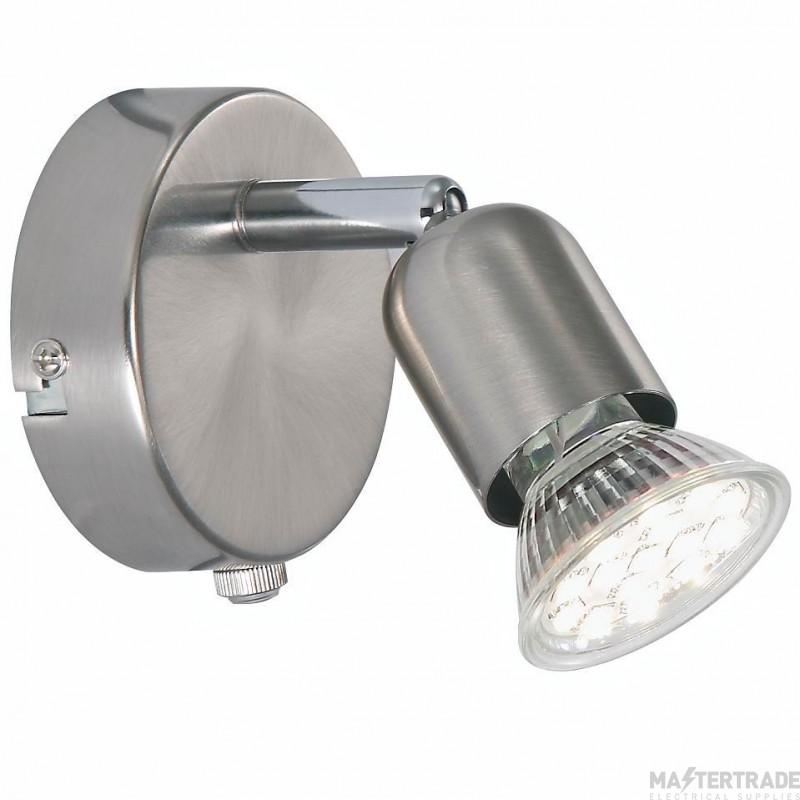 Nordlux 76551132 Avenue LED Wall Light Brushed Steel 3000K