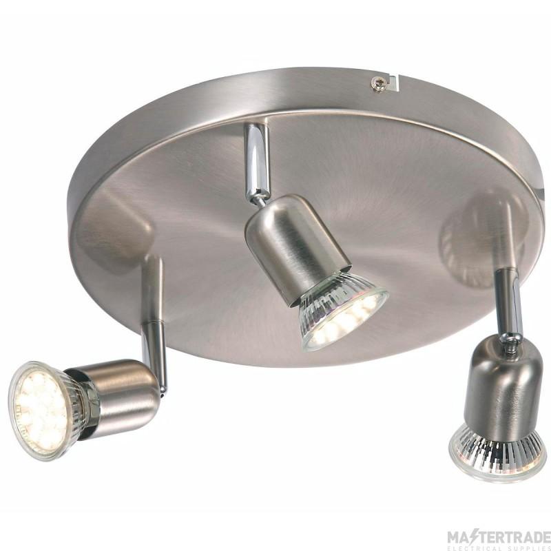Nordlux 76560132 Avenue LED 3 Light Spotlight Brushed Steel