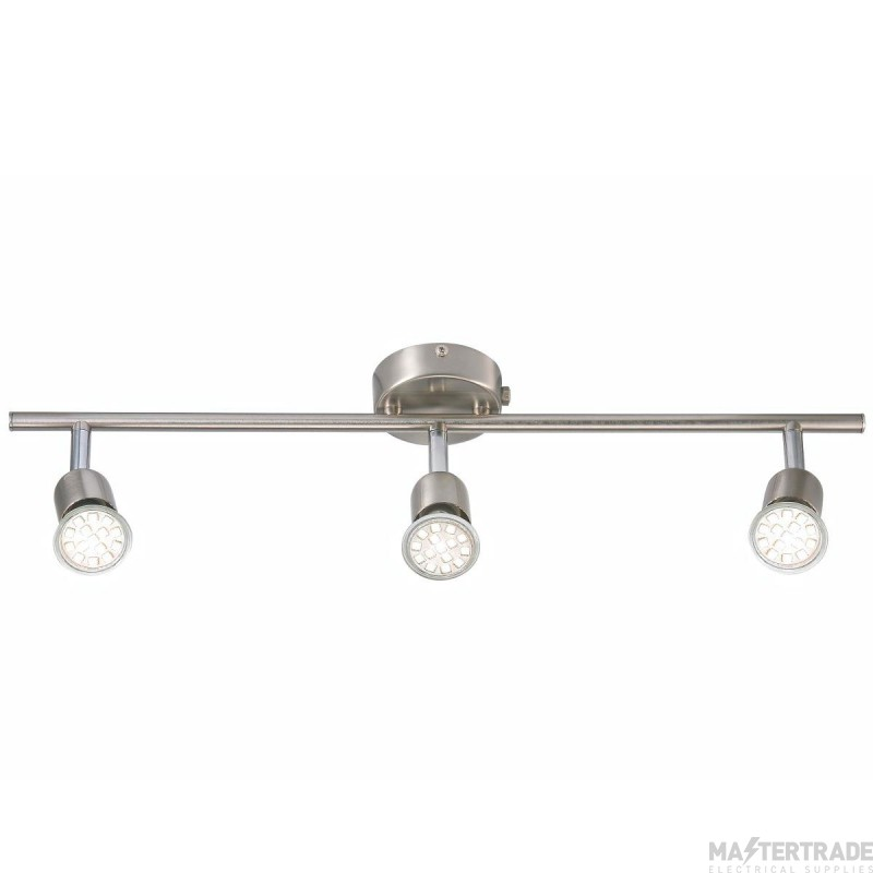 Nordlux 76570132 Avenue LED 3-Rail Spotlight Brushed Steel