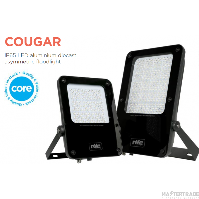 NVC Cougar NCU50/PEC/740 50W LED IP65 Asymmetric Floodlight with Photo Cell 4000K