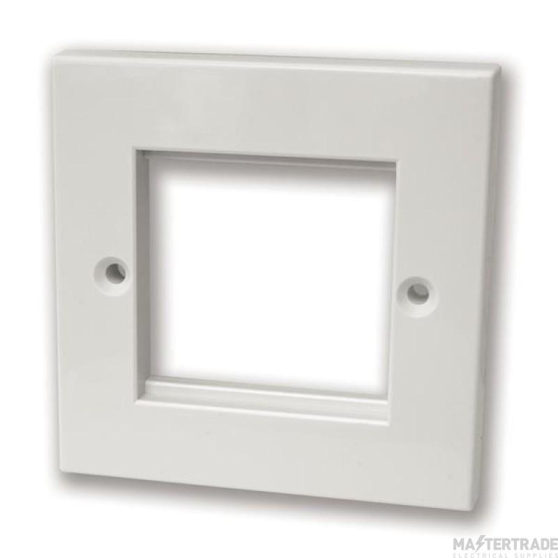 Face plate, 2 module