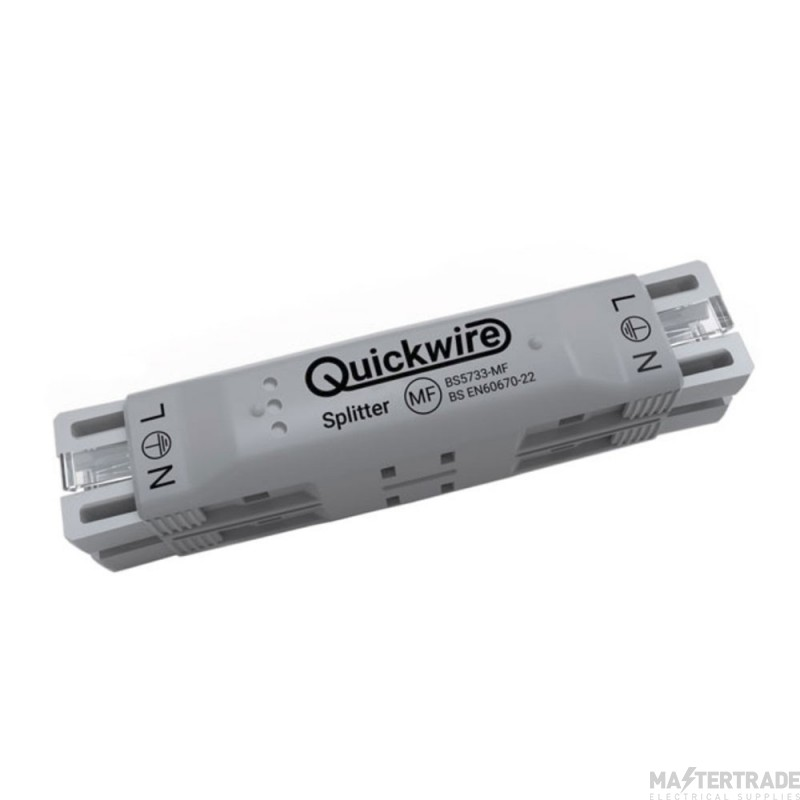 Quickwire QSP34 4 Connection Prewired Splitter Junction Box 16A 1.0-1.5mm sq