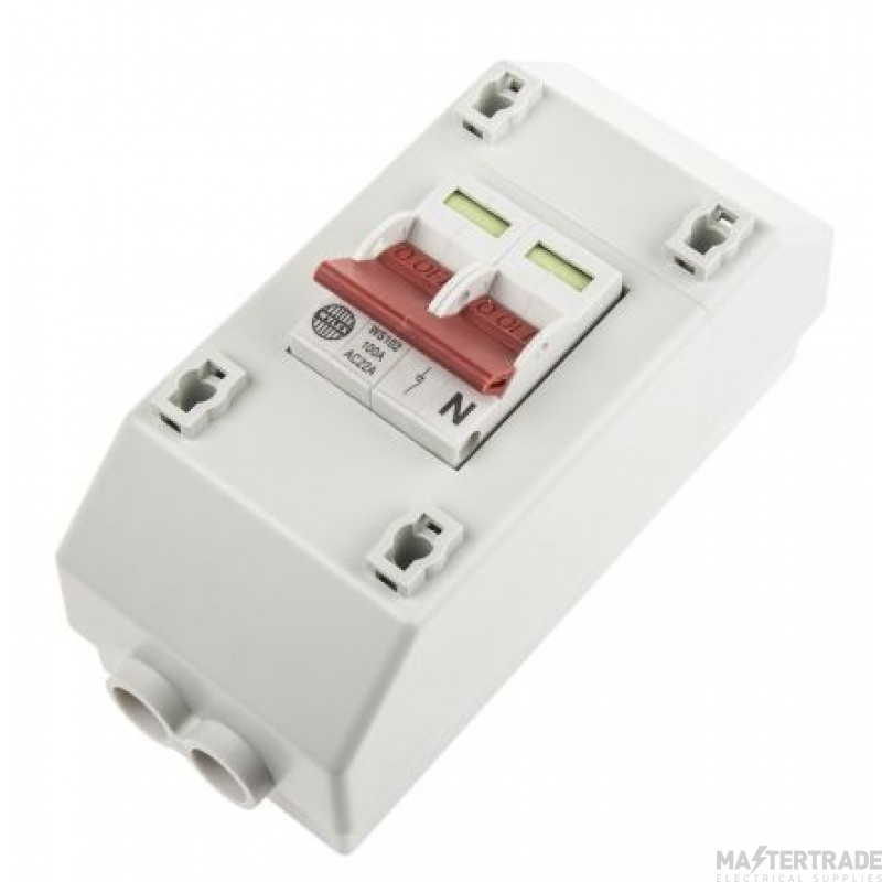 Wylex RECSW2S DP Slimline Metered Supply Isolator 100A