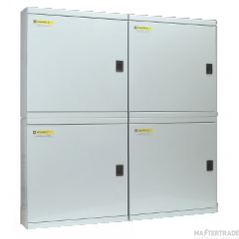 Schneider LoadCentre KQ, steel enclosure, 808 height, with din+front cover+door SE54B4D