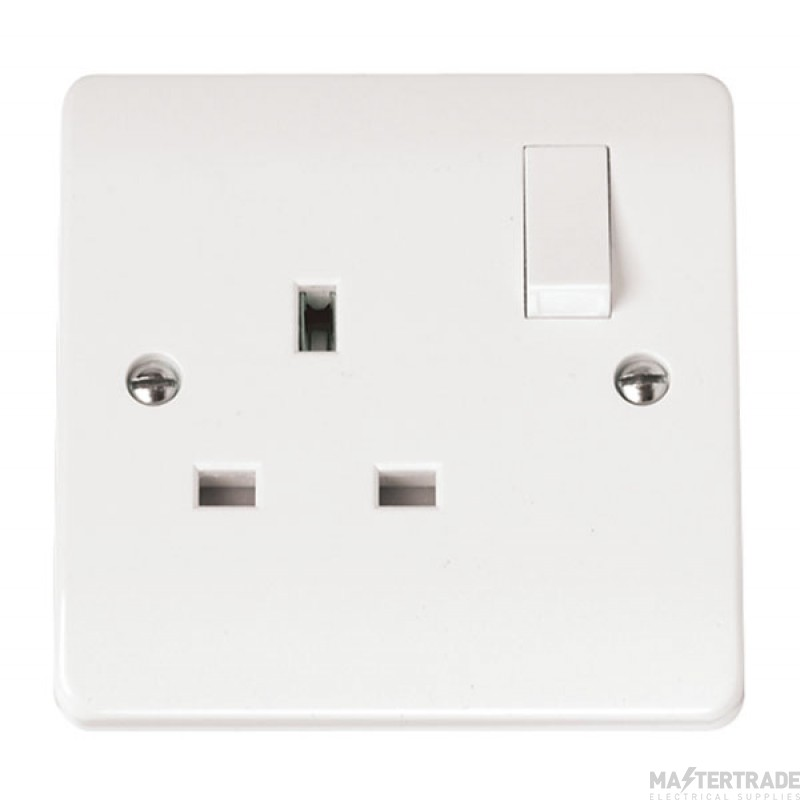 Click Mode 13A Socket 1 Gang DP Switched White CMA035