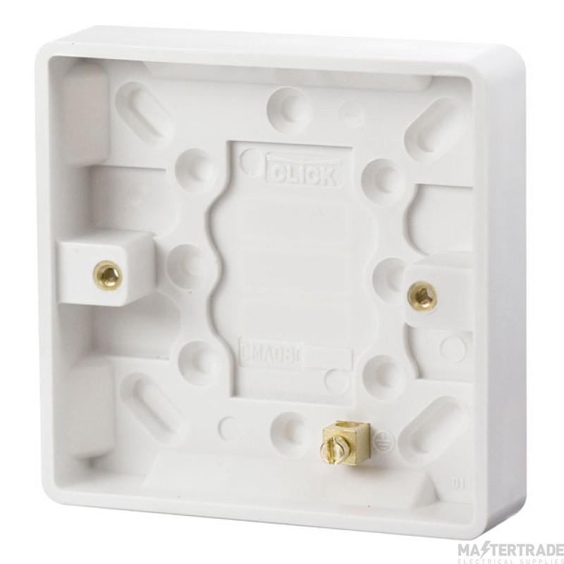 Click Mode 1 Gang 16mm Deep Pattress Box CMA080