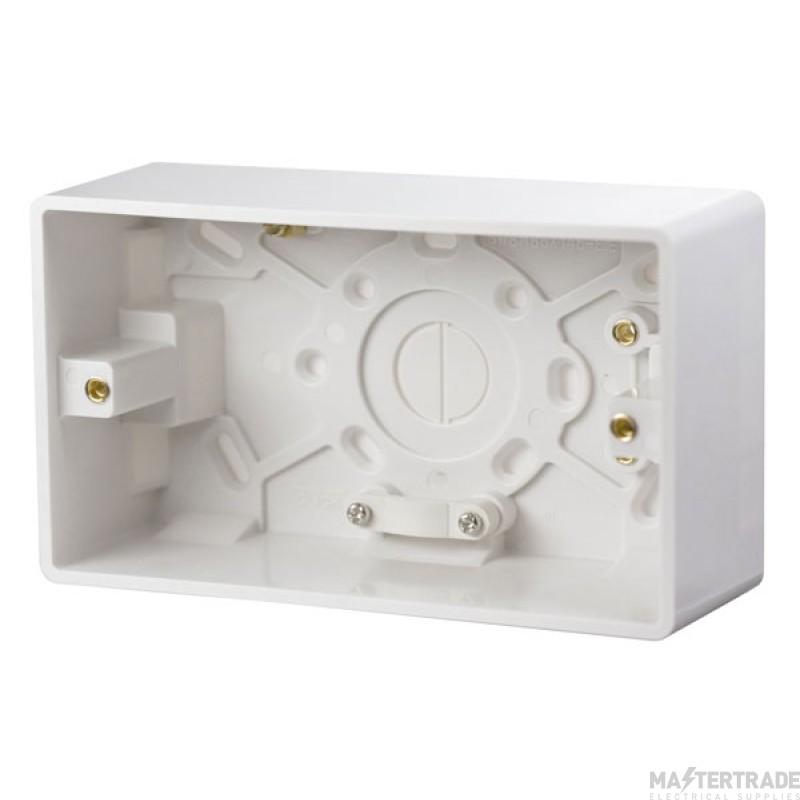 Click Mode 2 Gang 47mm Deep Pattress Box CMA086