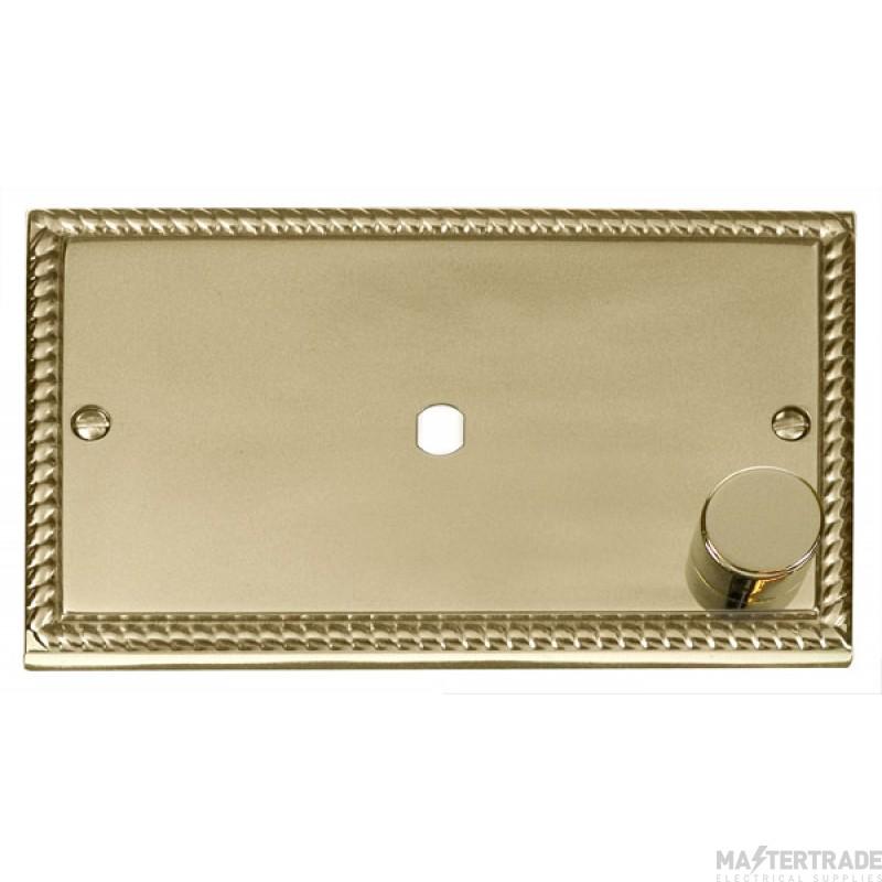 Click Deco Georgian Brass Single Dimmer Plate 1000W Max GCBR185