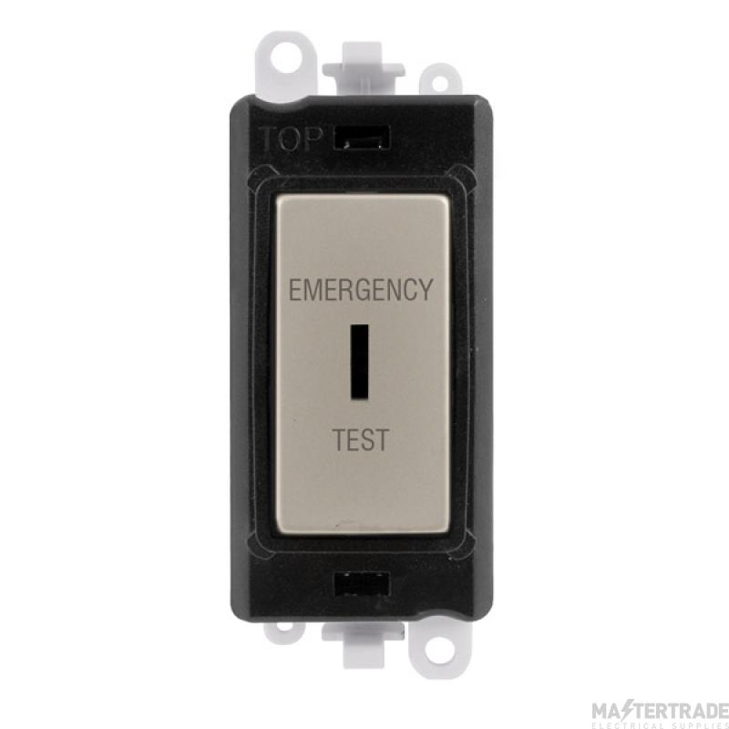 Click GridPro 20AX Switch DP Key Emergency Test Module Pearl Nickel GM2046BKPNET