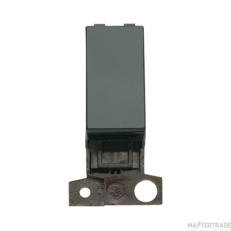 Click Minigrid 10A Switch 1 Way Module Black MD001BK