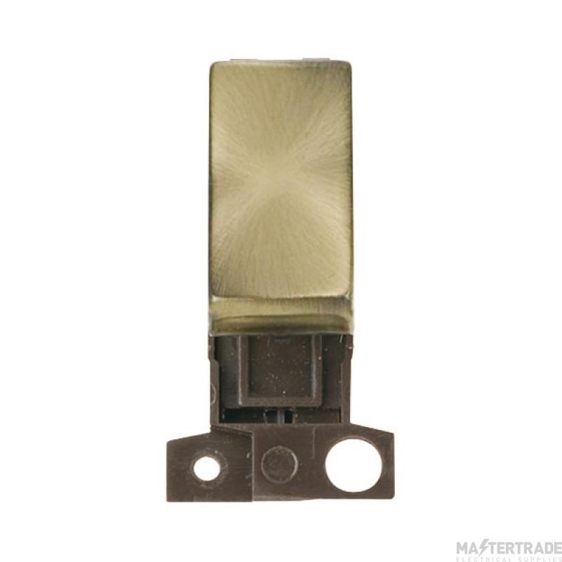 Click MiniGrid MD002AB Antique Brass 2 Way Switch Module