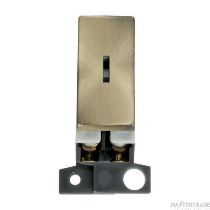 Click MiniGrid MD003AB Antique Brass 2 Way Keyswitch Module