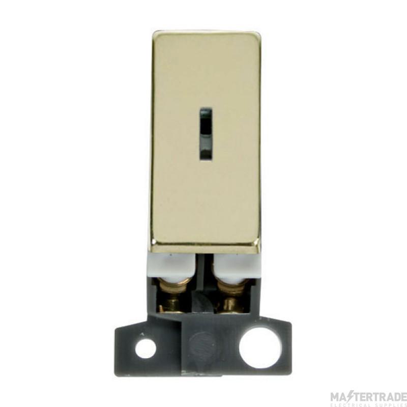 Click MiniGrid MD003BR Polished Brass 2 Way Keyswitch Module