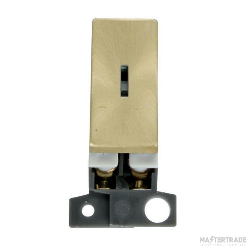 Click MiniGrid MD003SB Satin Brass 2 Way Keyswitch Module