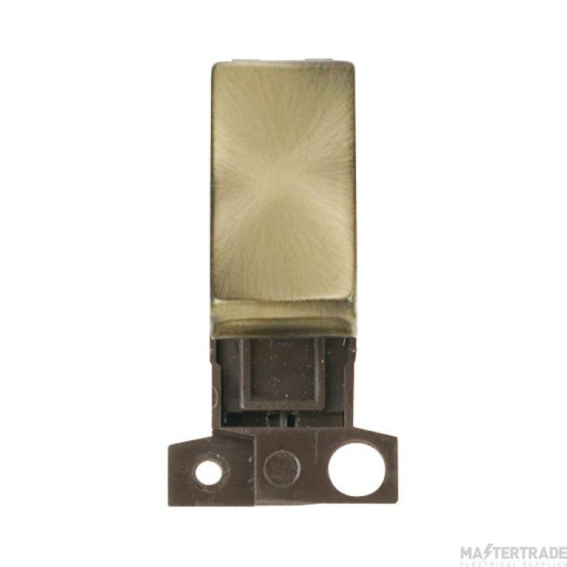 Click MiniGrid MD004AB Antique Brass 2 Way Retractive Sw Module