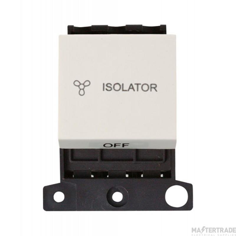Click MiniGrid MD020PW Polar White 3 Pole Fan Isolator Sw Module