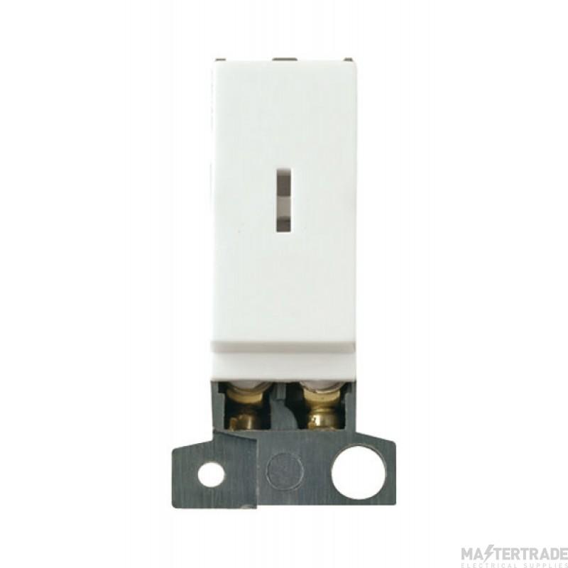 Click MiniGrid MD046WH White Double Pole Keyswitch Module