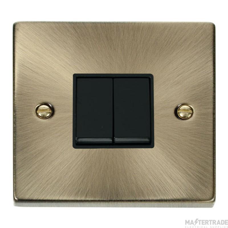 Click Deco Antique Brass 2 Gang 2 Way Switch VPAB012BK