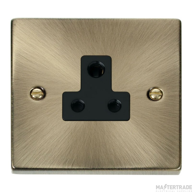 Click Deco Antique Brass 5A Single Round Pin Socket VPAB038BK