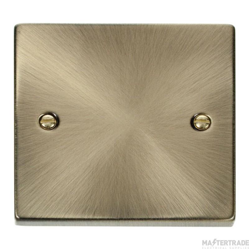 Click Deco Antique Brass 1 Gang Blank Plate VPAB060