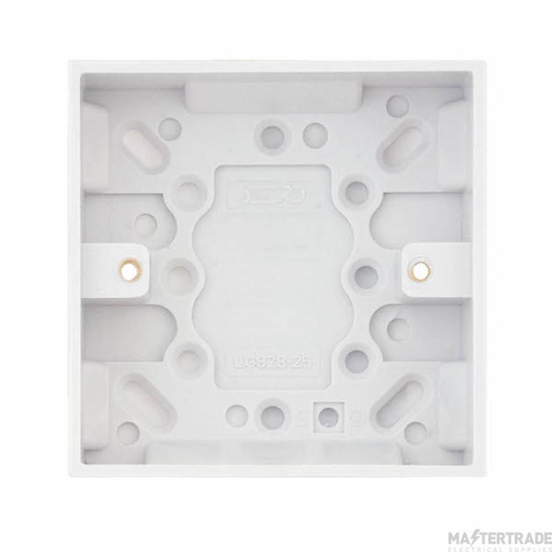 Selectric LGA 1 Gang Surface Pattress Box - 25mm Deep