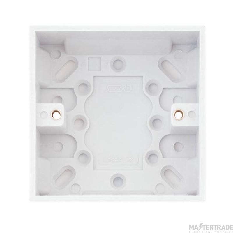 Selectric LGA White 32mm Box 1 Gang LG828-32