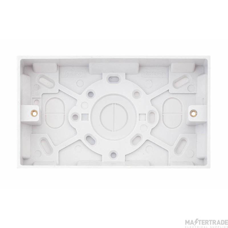 Selectric LGA 2 Gang Surface Pattress Box - 25mm Deep