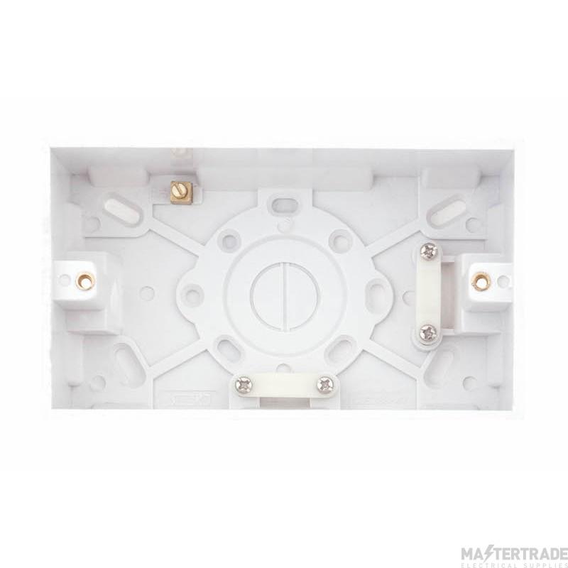 Selectric LGA 2 Gang Surface Pattress Box - 47mm Deep
