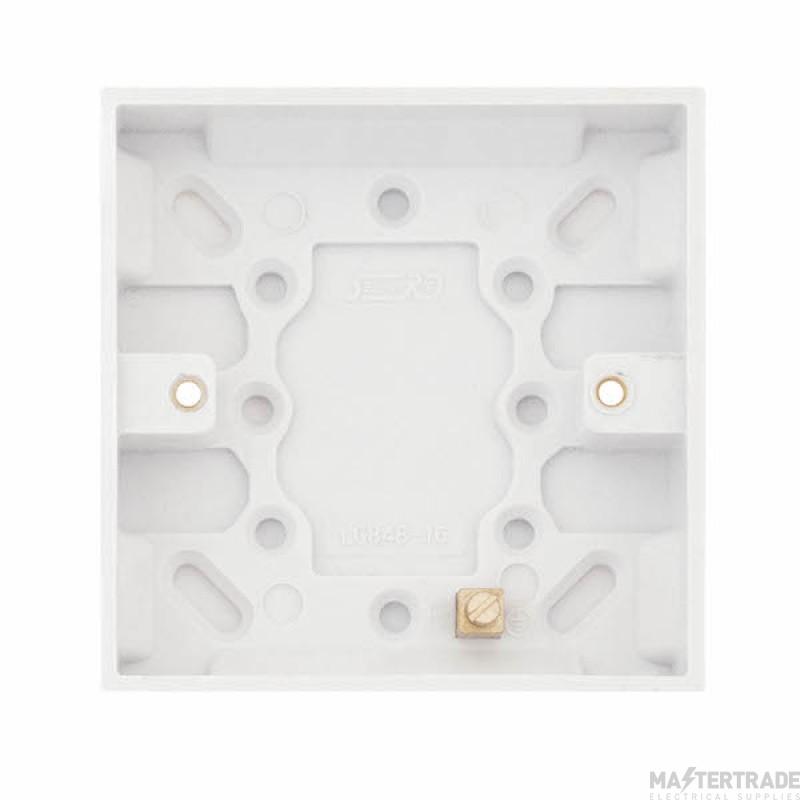 Selectric LGA White 16mm Box 1 Gang LG848-16