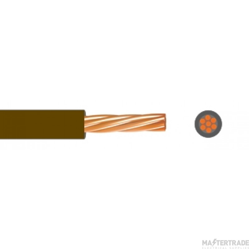 Single Core Low Smoke Zero Halogen Conduit Cable 2.5mmSQ 6491B Brown 100M