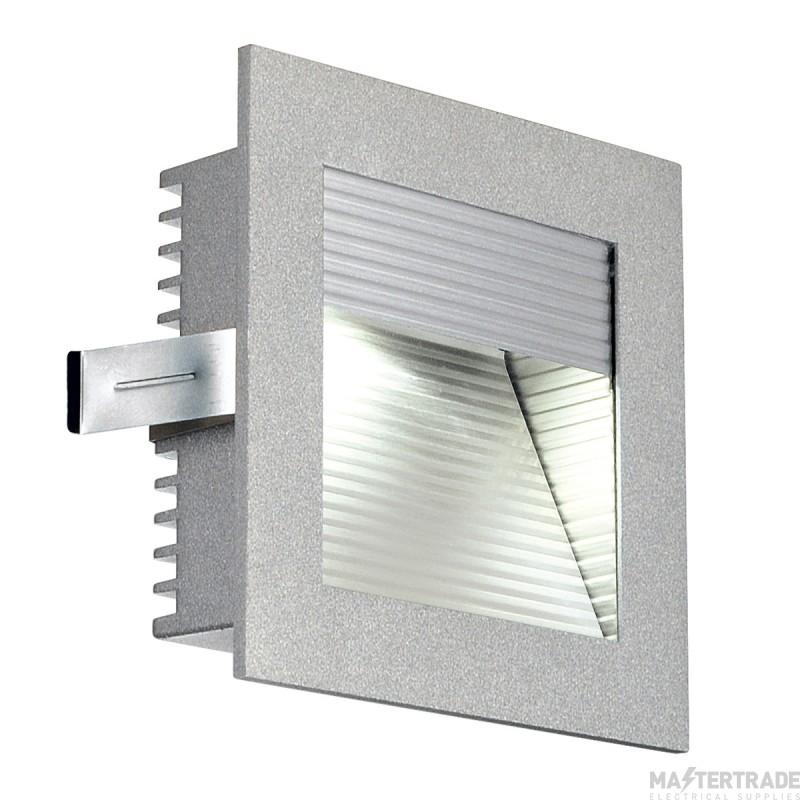 SLV 111290 FRAME CURVE LED recessed light , square, silver-grey, white LED
