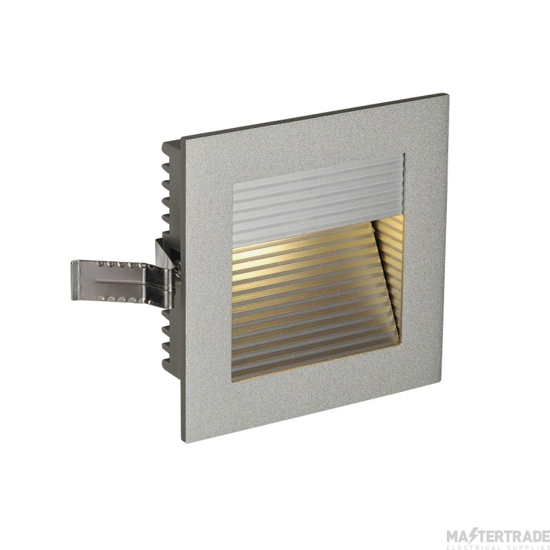 SLV 111292 FRAME CURVE LED recessed light , square, silver-grey, warm white LED